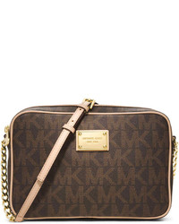 MICHAEL Michael Kors Michl Michl Kors Jet Set Large Travel Crossbody Brown