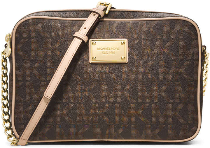 3086ad8f59db ... MICHAEL Michael Kors Michl Michl Kors Jet Set Large Travel Crossbody  Brown ...