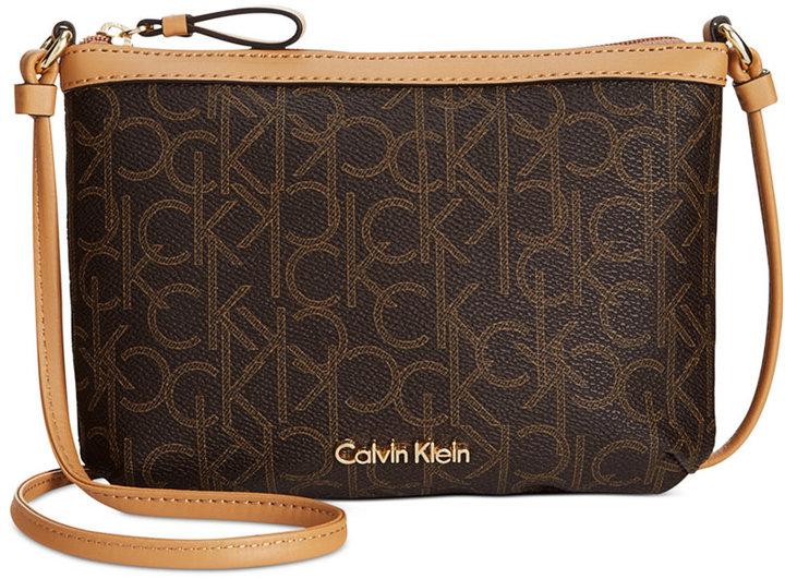 cf1ee0b6e Calvin Klein Monogram Crossbody, $78 | Macy's | Lookastic.com