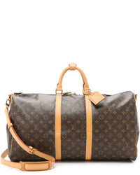 Louis Vuitton What Goes Around Comes Around Heritage Monogram Keepall 55 Bag