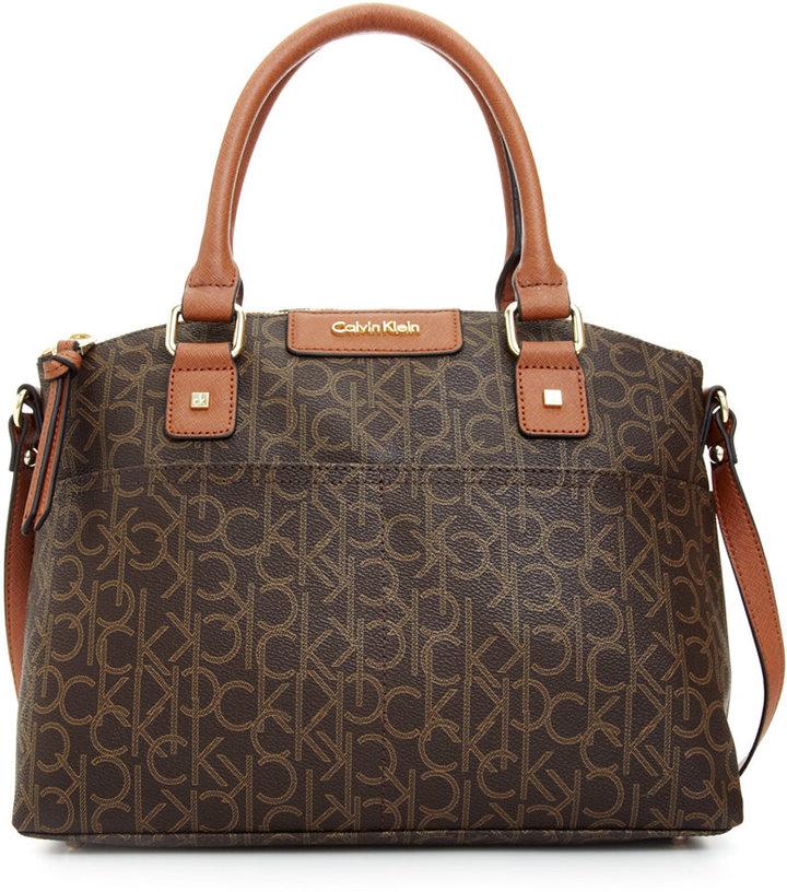 Bags Calvin Klein Hudson Ck Monogram Satchel
