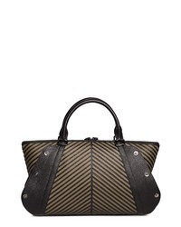 Akris Aimee Herringbone Leather Convertible Satchel
