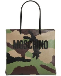 Camo printed leather tote bag medium 4417590