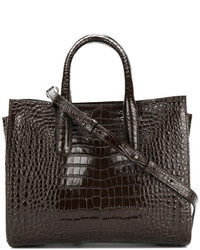 Crocodile print handle tote medium 4990890