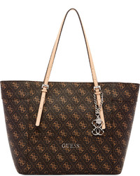 52e6715068b Women s Dark Brown Leather Tote Bags by GUESS   Women s Fashion