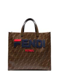 Fendi Mania Brown Tote Bag
