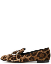 Dolce & Gabbana Leopard Print Loafers