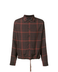 Dark Brown Print Long Sleeve Shirt