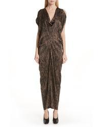 Zero Maria Cornejo Miu Hair Print Stretch Silk Dress
