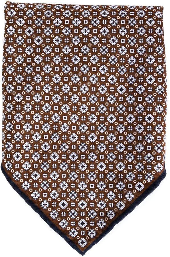 Brunello Cucinelli Floral Print Pocket Square