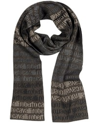 Dark Brown Print Scarf