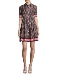 Kate Spade New York Printed Poplin A Line Shirtdress Brownmulticolor