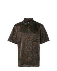 Dark Brown Print Short Sleeve Shirt