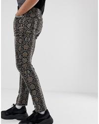 ASOS DESIGN Skinny Jeans In Snake Print