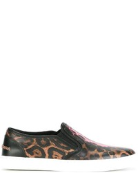 Dolce & Gabbana Leopard Print Slip On Sneakers
