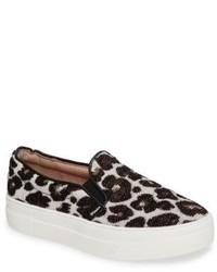 Topshop Tucker Leopard Print Slip On Sneaker