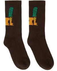 Opening Ceremony Brown Cactus Dog Socks