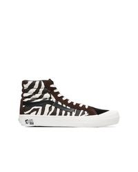 91935c85f5 Vans Brown And White Vault X Taka Hayashi Zebra Print Sneakers