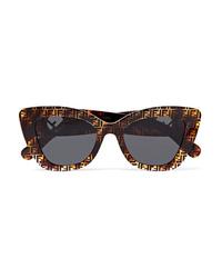 Fendi Cat Eye Printed Tortoiseshell Acetate Sunglasses