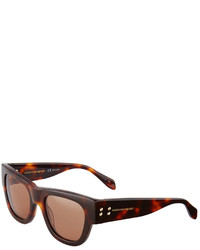 Alexander McQueen Plastic Printed Sunglasses Brown