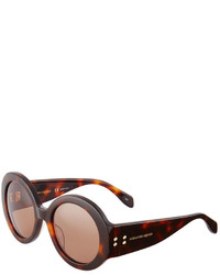 Alexander McQueen Printed Round Sunglasses Brown
