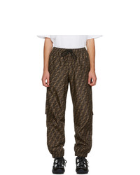 Fendi Black And Brown Forever Lounge Pants