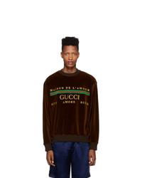 Gucci Brown Chenille Maison De Lamour Sweatshirt