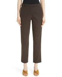 Etro Dot Jacquard Straight Leg Pants