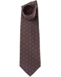 Dark Brown Print Tie