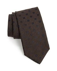 Canali Medallion Silk Wool Tie