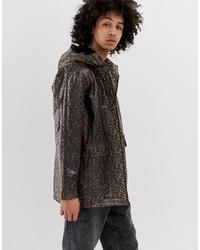 ASOS DESIGN Transparent Leopard Print Zip Through Jacket