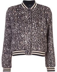 R13 leopard print bomber jacket medium 5206789