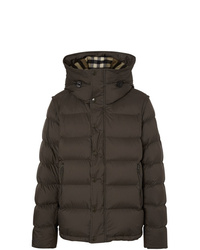 Burberry Detachable Sleeve Down D Hooded Puffer Jacket