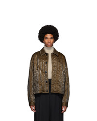 Dries Van Noten Brown Quilted Jacket