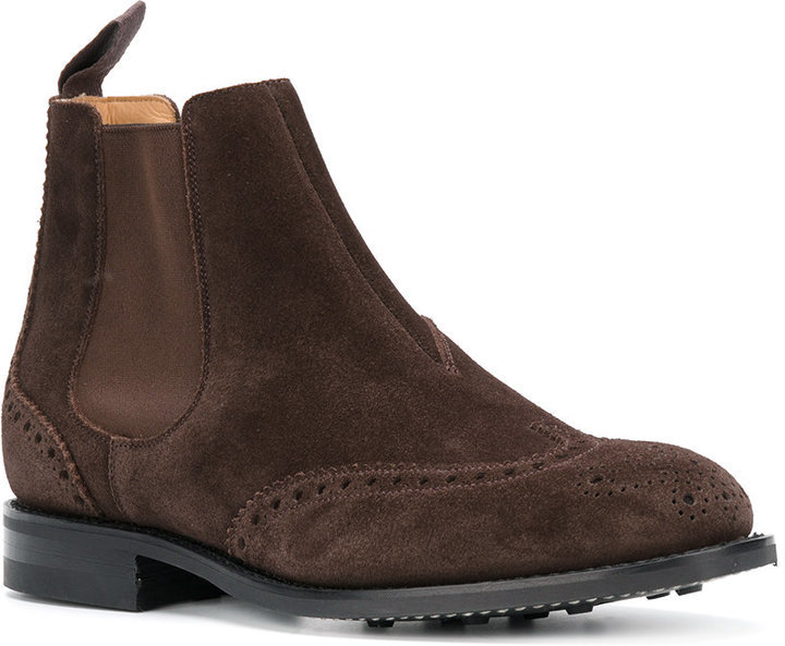 425158a91617e Church's Brogue Detail Chelsea Boots, $344 | farfetch.com ...