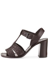 Bottega Veneta Intrecciato T Strap 80mm Sandal