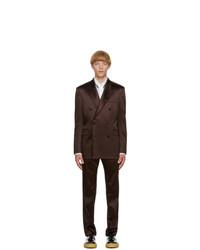 Paul Smith Brown Satin Soho Suit