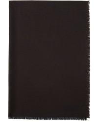 Z Zegna Brown Black Animal Print Scarf