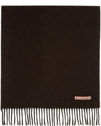 Acne Studios Brown Wool Oversized Scarf