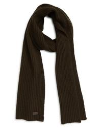 Barbour Carlton Rib Wool Blend Scarf