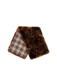 Gucci Gg Faux Fur Wrap