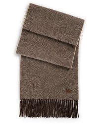 Hugo Boss Hedon Herringbone Wool Cashmere Scarf By Boss