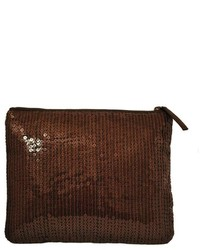 Winky designs brown sequin clutch medium 437499