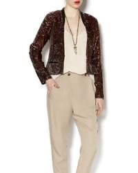Dance marvel brown sequin blazer medium 190130