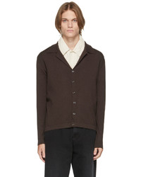 Second/Layer Brown Pistolero Ribbed Cardigan