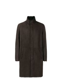 Dark Brown Shearling Coat