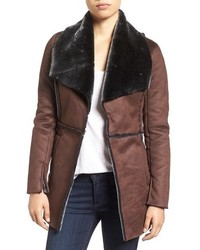 Dark Brown Shearling Coat
