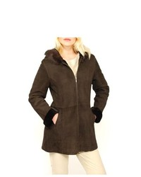 Lana Rafinatta S Spanish Merino Shearling Hooded Coat