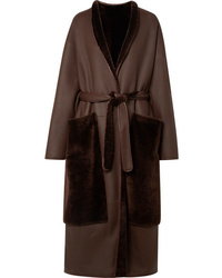 The Row Nooman Oversized Belted Shearling Coat