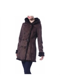 Phistic Hooded Faux Shearling Coat